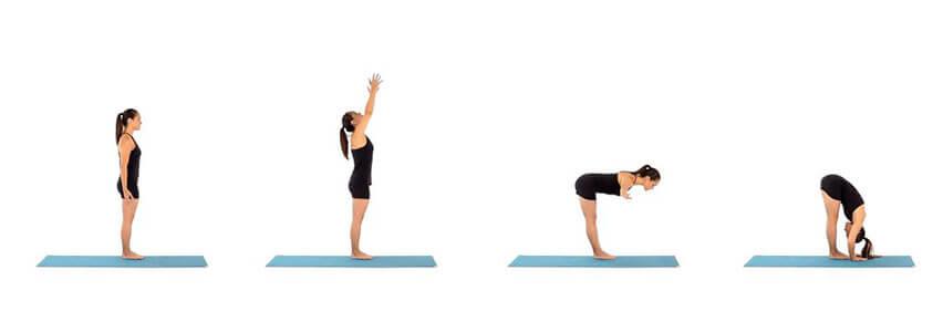 Ayakta öne eğilme yoga hareketi