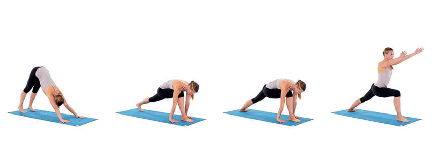 Savaşçı duruşu yoga hareketi